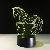 LED Table Luces 3D Lamp Animal Night Light Horse Bedside ...