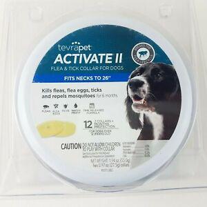 TevraPet Activate II Flea & Tick Dog Collar Neck up To 26 ...