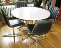 Vintage CHROMCRAFT Dining Table & 4 Chairs. Mid Century ...