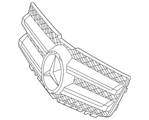 Genuine Mercedes-Benz Grille Assembly 204-880-29-83-9982