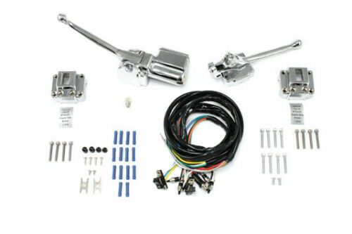 Handlebar Control Kit Chrome for Harley Davidson by V-Twin