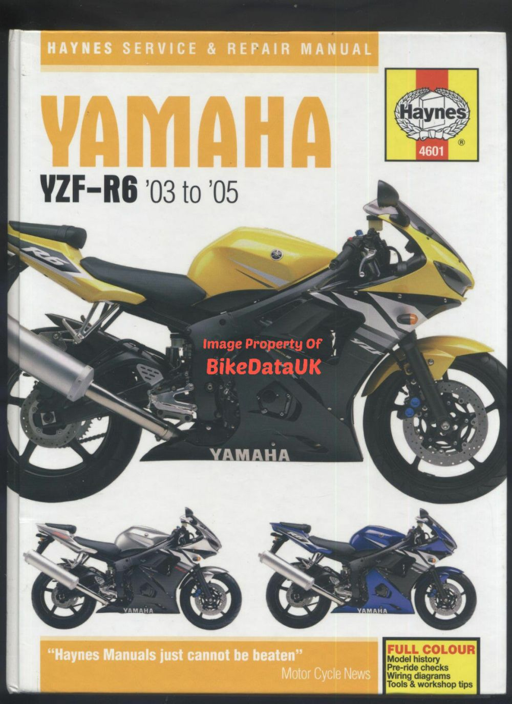 medium resolution of yamaha r6 03 05 5sl haynes maintenance workshop manual 4601 ebay yamaha rhino wiring diagram 03 yamaha r6 wiring diagram