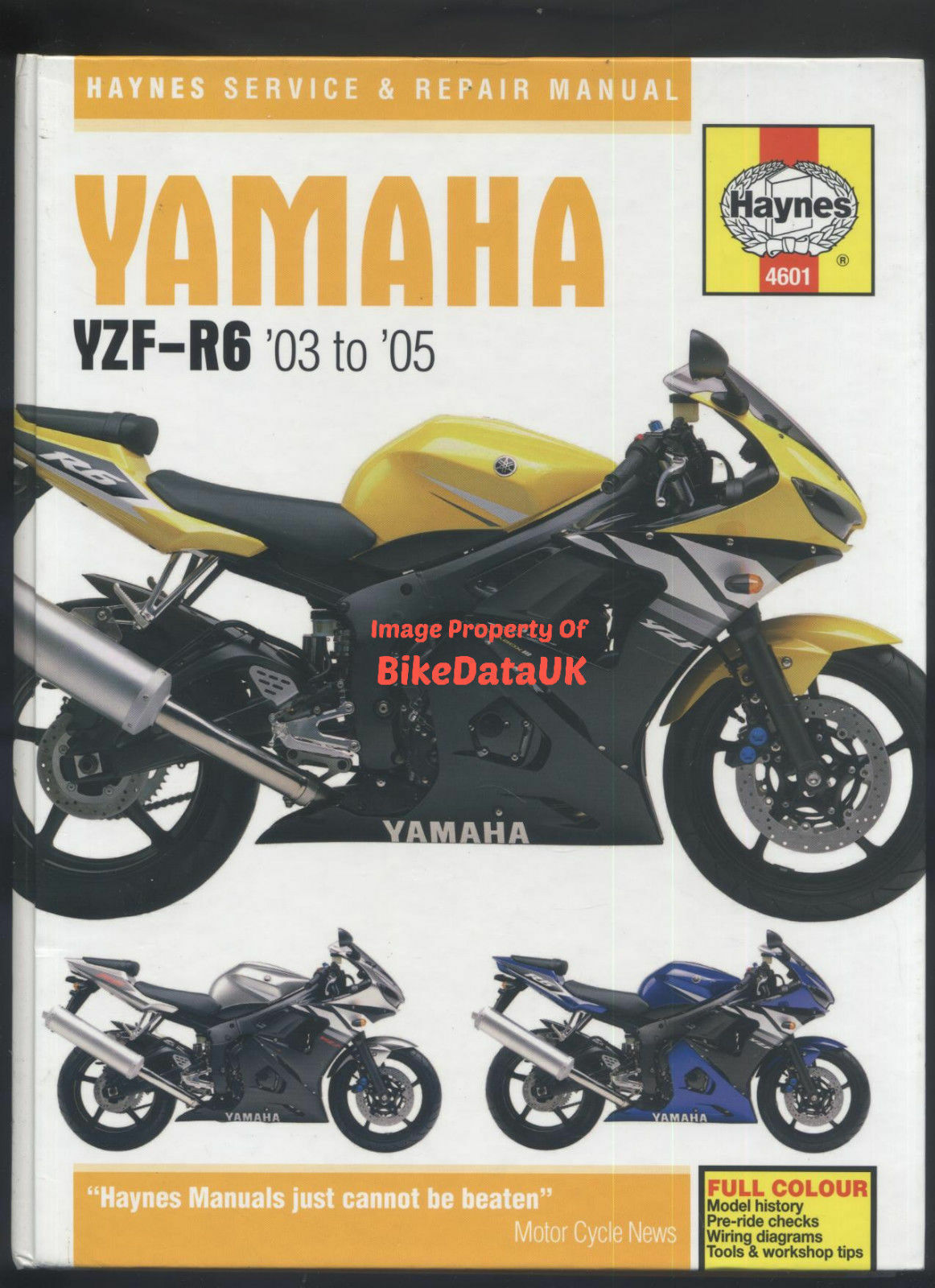 hight resolution of yamaha r6 03 05 5sl haynes maintenance workshop manual 4601 ebay yamaha rhino wiring diagram 03 yamaha r6 wiring diagram