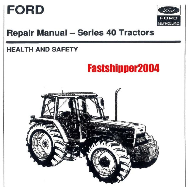 FORD-NH 5640 6640 7740 7840 8240 8340 Tractor Operator's