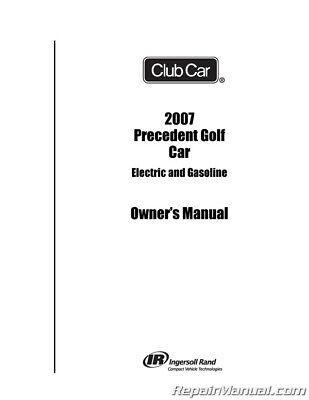 2007 Club Car Precedent Golf Cart Electric and Gasoline