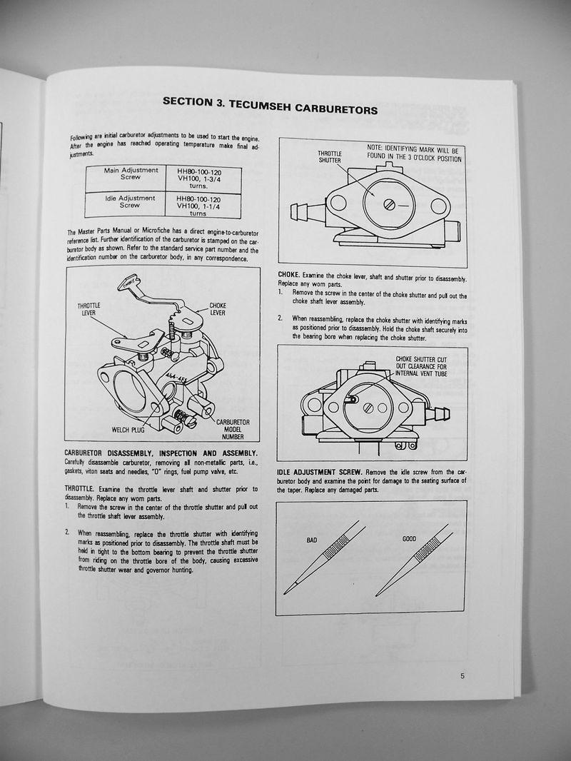 hight resolution of bolens 1253 lawn mower garden tractor tecumseh hh120 engine service manual ebay