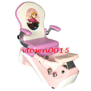 pink nail salon chairs chair covers that fit ikea elsa anna kid pedicure massage mini spa image is loading amp