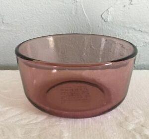 details about pyrex 2 cup purple glass bowl oven microwave safe vintage 500 ml