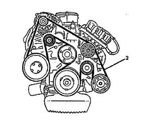 WK STATESMAN CAPRICE V6 3.8L ECOTEC Main Drive Belt with
