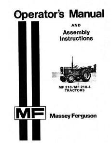 Massey Ferguson Tractors-Compact 210, 210-4 Operator