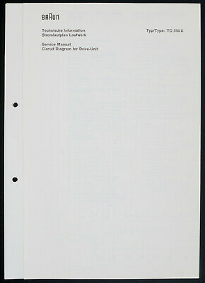 Brown Tc-550 x Original Service Manual/Circuit Diagram