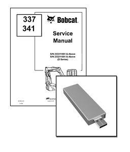 Bobcat 337 341 D-Series Excavator Service Repair Manual