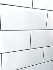 soft white 4x8 subway beveled ceramic
