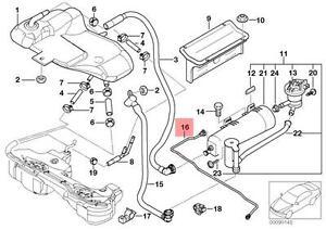 Genuine BMW E46 Cabrio Coupe Rear Emission Vent Pipe OEM