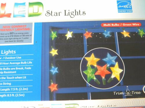 home garden 30 led multi colored star patio string lights indoor outdoor christmas yard garden outdoor living items