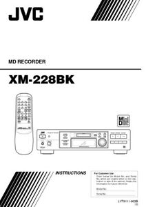 JVC XM-228BK Minidisc Recorder Owners Instruction Manual