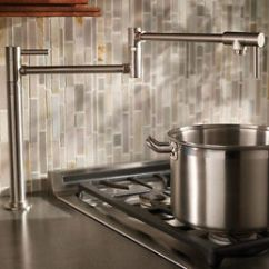 Kitchen Pot Filler Cabinet Installation Tools Brass Brushed Nickel Deck Mounted Sink Tap Faucet Image Is Loading