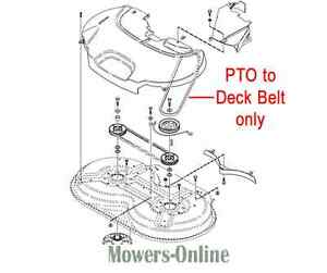 Genuine Stiga Villa 320 HST PTO to Deck Belt 1134-9169-01