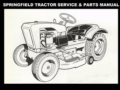 SPRINGFIELD 65 66 TRACTOR OPERATIONS PARTS MANUALs for