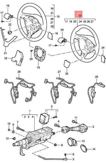 Genuine PORSCHE 911 Sports Steering Wheel Dark Grey