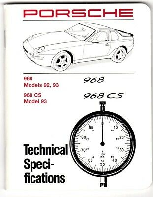 Porsche 968/Club Sport technical specifications manual