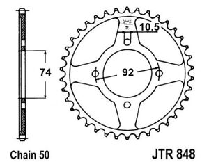 YAMAHA RD350LC / RD350 LC (80-82) 40 TOOTH REAR SPROCKET