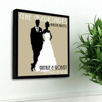 Personalized Wedding Canvas Personalized Art Art Couples ...