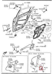 Mazda OEM genuine Rear Window Crank Escutcheon B001-58