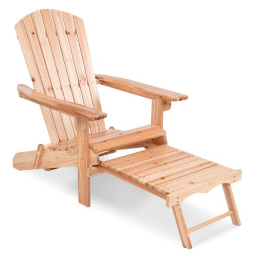 folding home garden wood adirondack chair with pull out ottoman furniture us patio chairs swings benches home garden worldenergy ae