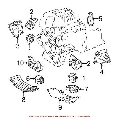 For Mercedes Genuine Manual Transmission Mount 2042400618
