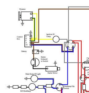 Classic Mini 850 Colour A3 Wiring Diagram  Laminated