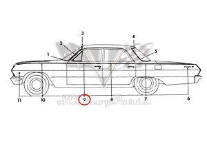 1963 Chevy Biscayne 4-Door Sedan NOS Front Door Trim