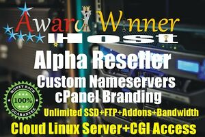 Alpha Reseller Hosting For 5 Year Unlimited CPANEL/WHM@£9.
