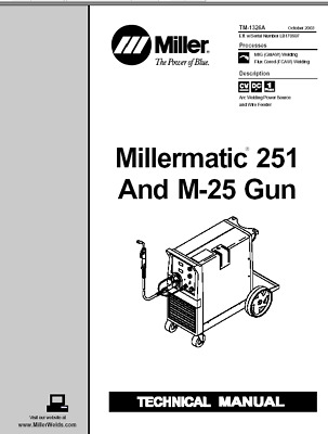 MILLER MILLERMATIC 251 AND M 25 GUN SERVICE TECHNICAL