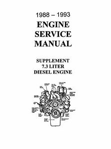 OEM Repair Maintenance Shop Manual Ford Truck 7.3 Diesel
