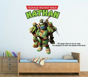 large personalized teenage mutant ninja turtles wall decal remove
