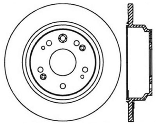 Disc Brake Rotor-Premium Rotor CENTRIC PARTS 120.40054CRY