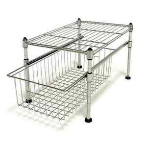 Basket Organizer Storage Set Wire Shelf Sink Kitchen