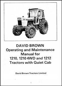 Case David Brown 1210 1210 4WD 1212 Tractors w Quiet Cab