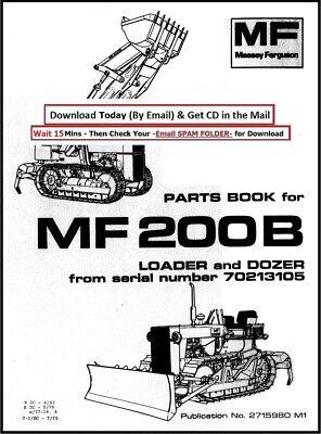 Massey Ferguson MF200B Loader & Dozer SERVICE PARTS MANUAL