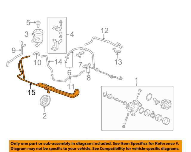 honda power steering diagram pioneer deh p3500 wiring buy oem 07 09 cr v pump hose cooler tube 53765swa000 53765 swa