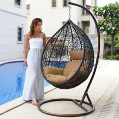 Outdoor Wicker Swing Chair Holiday Covers Patterns Tear Drop Hanging Hammock Egg Shape New Image Is Loading