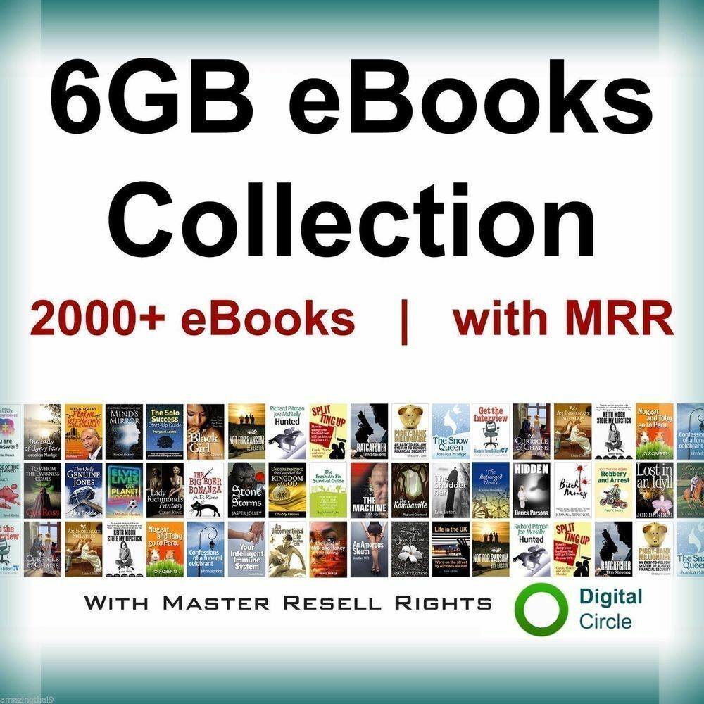 2000 E Books Package Collection (PDF format) with Resell Rights