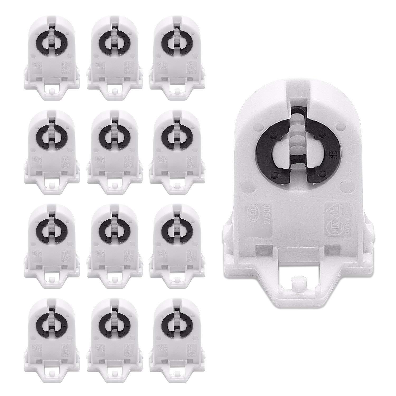hight resolution of lustreon non shunted 600w t8 lamp holder socket for led fluorescent tube replace for sale ebay