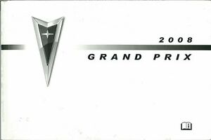 2008 Pontiac Grand Prix Owners Manual User Guide Reference