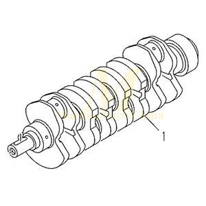 Crankshaft For Kubota V3300 V3300-DI Engine Bobcat Skid