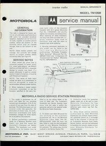 Rare Original Factory 1969 Motorola TM105M Auto Radio