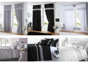 For your bedroom, these thermal insulated drapes will block up to 99 percent of light, according to the brand. Silver Grey Black White Diamante Duvet Sets Curtains Throws Order Separately Ebay