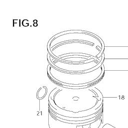 Suzuki Standard Bore Piston Rings Ring Set 05 06 07 LTA