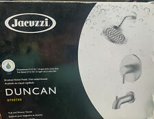 jacuzzi duncan tub shower faucet pvd 1 handle brushed nickel 0702750
